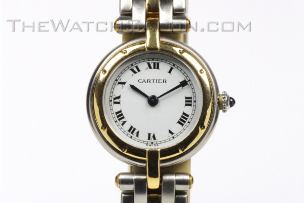 cartier ladies steel & 18K panthere' ronde' 1980s