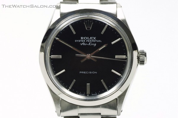 Rolex oyster perpetual air-king precision stainless steel watch r55 hero dated 1972