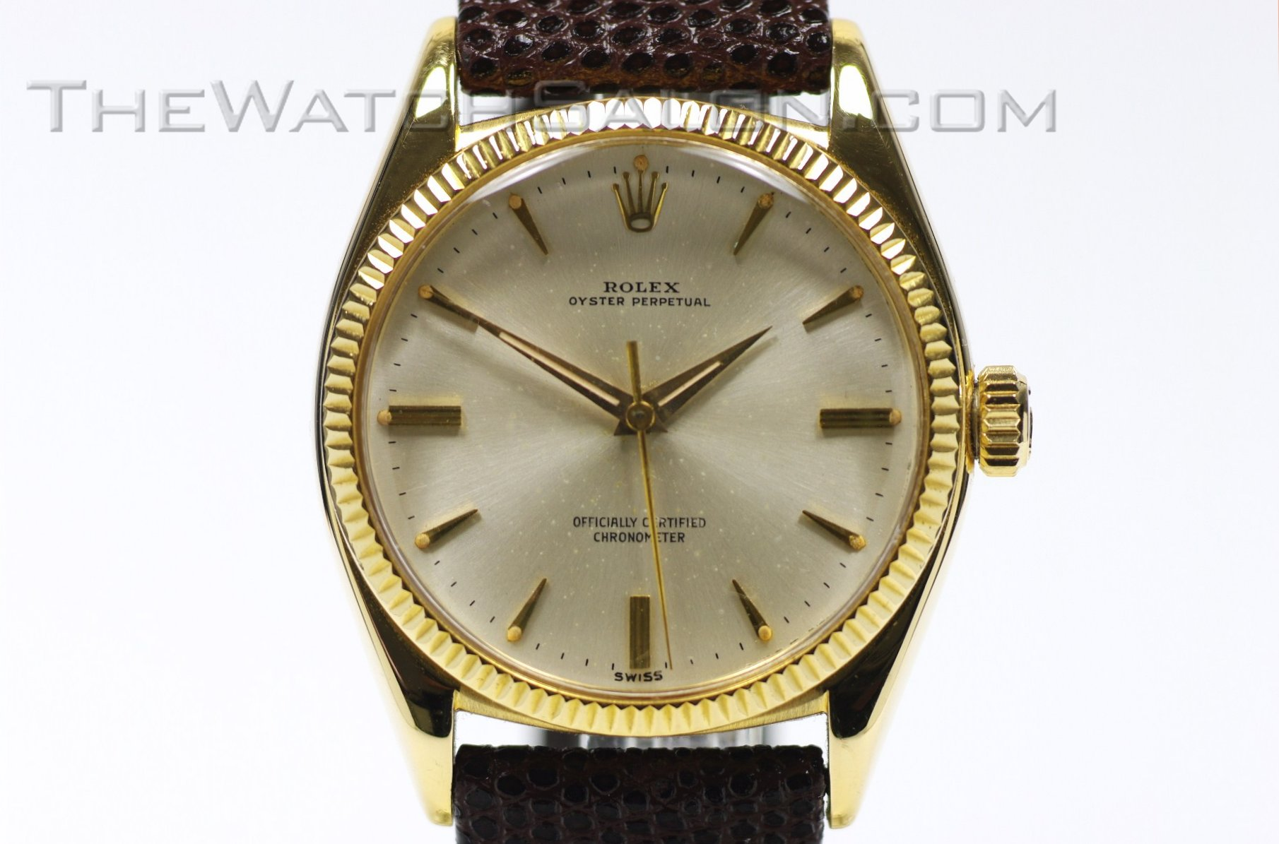 rolex 18K oyster perpetual box & papers 1959
