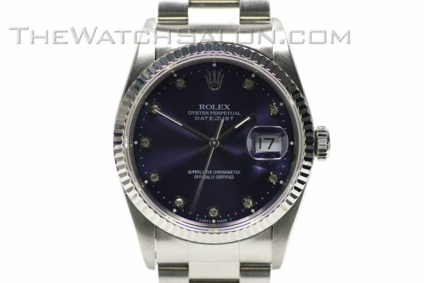 rolex date-just steel diamonds 1991