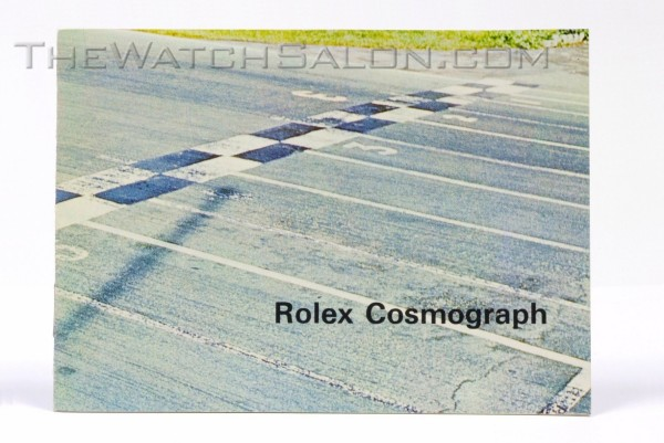 rolex cosmograph booklet
