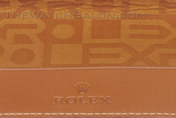rolex diary holder in tan leather