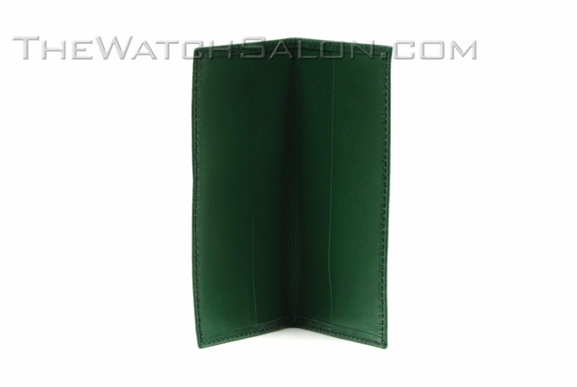 rolex diary holder in green learther