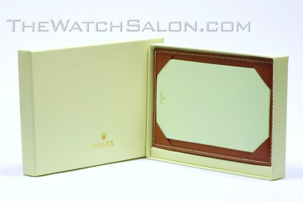 rolex tan leather notepad