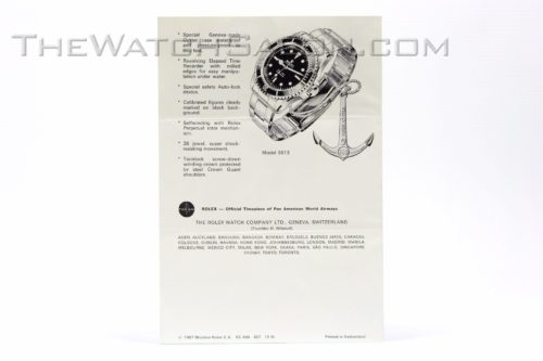 rolex vintage submariner booklet