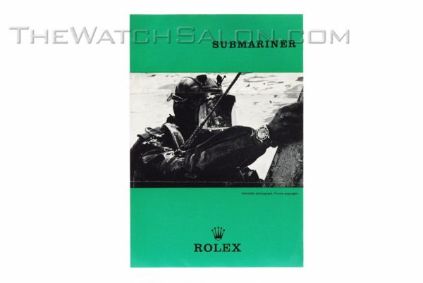 rolex vintage submariner booklet