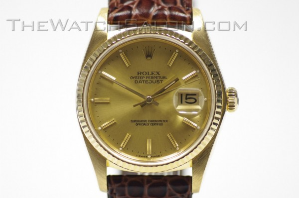 rolex 18k datejust 1980