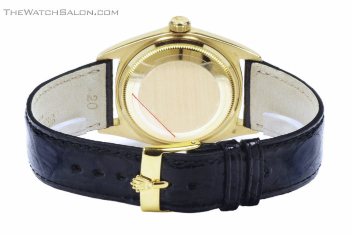 Rolex 18k gold president day date watch 1969 r56 back