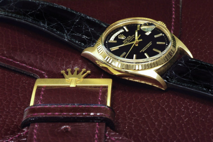 Rolex 18k gold president day date watch 1969 r56 box 3