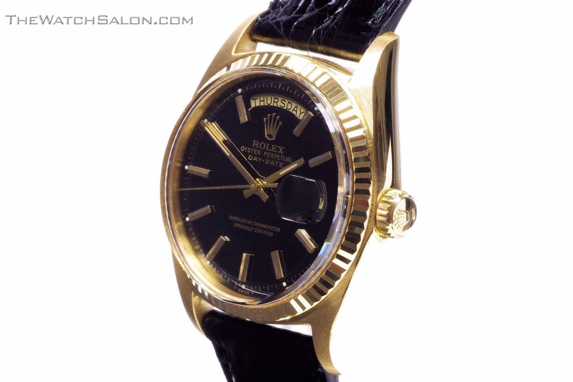 Rolex 18k gold president day date watch 1969 r56 crown