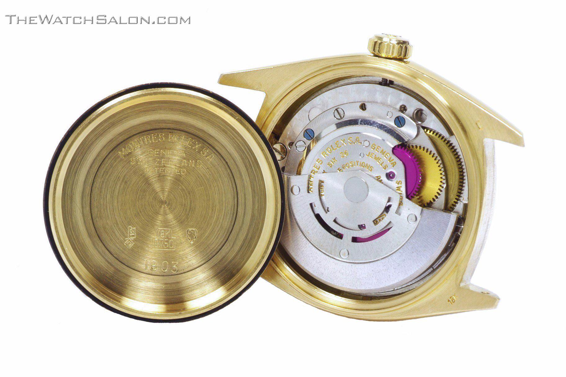 Rolex 18k gold president day date watch 1969 r56 movement