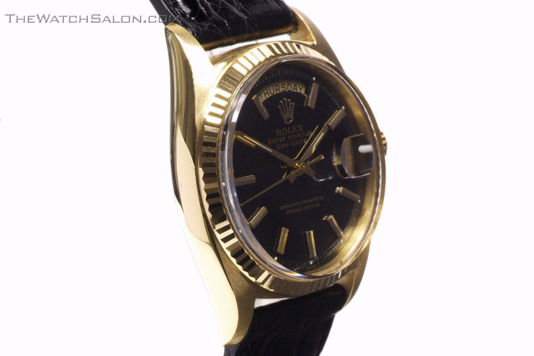 Rolex 18k gold president day date watch 1969 r56 non crown