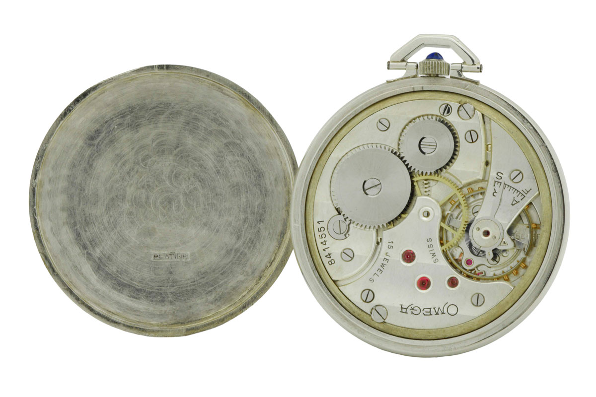 Omega Platinum and Diamond Pocket Watch 1934